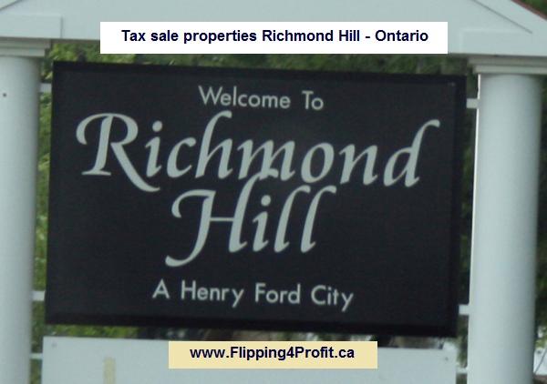 Tax sale properties Richmond Hill - Ontario