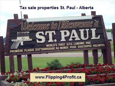 Tax sale properties St. Paul - Alberta