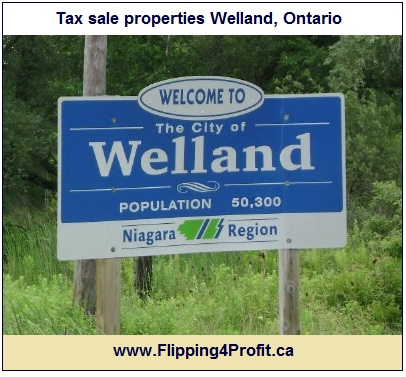 Tax sale properties Welland, Ontario