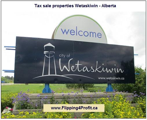 Tax sale properties Wetaskiwin - Alberta