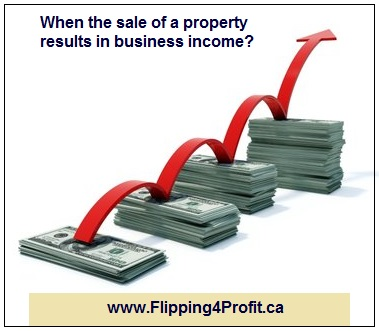When the sale of a property results in business income