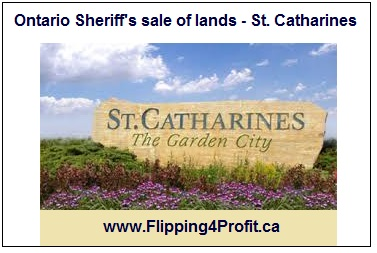 Ontario Sheriff's sale of lands - St. Catharines