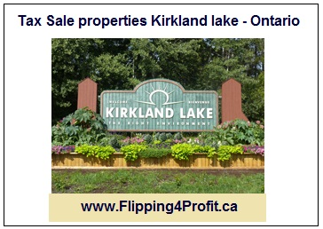 Tax Sale properties Kirkland lake - Ontario