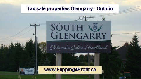 Tax sale properties Glengarry - Ontario