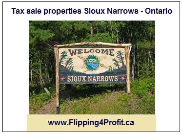 Tax sale properties Sioux Narrows - Ontario