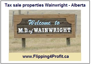 Tax sale properties Wainwright - Ontario