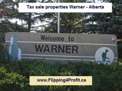 Tax sale properties Warner - Alberta