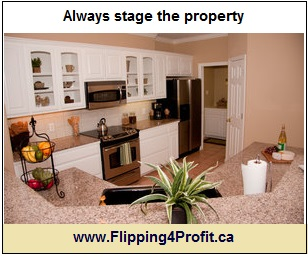 Always stage the property