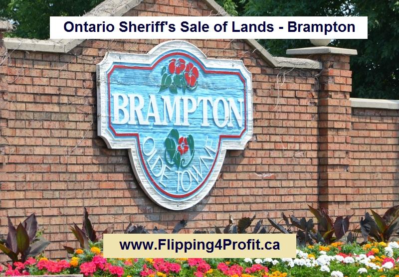 Ontario Sheriff's Sale of Lands - Brampton