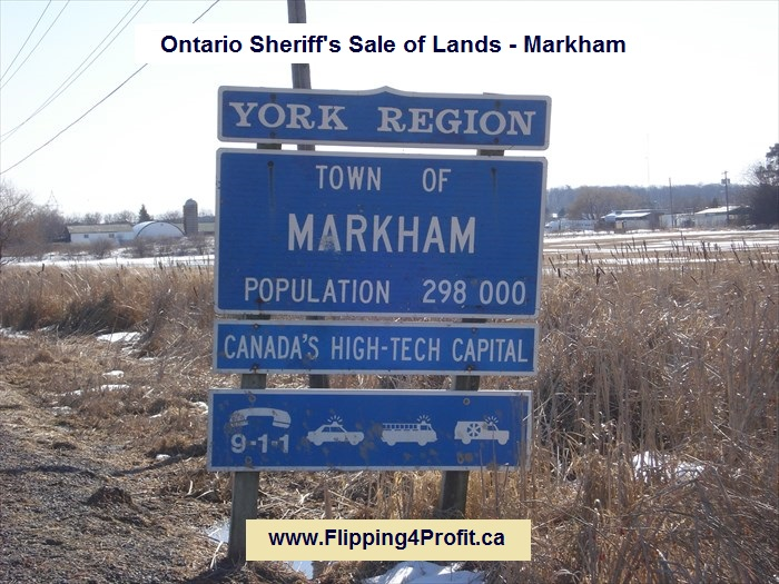 Ontario Sheriff's sale of lands - Markham