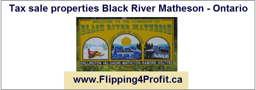 Tax sale properties Black River Matheson - Ontario