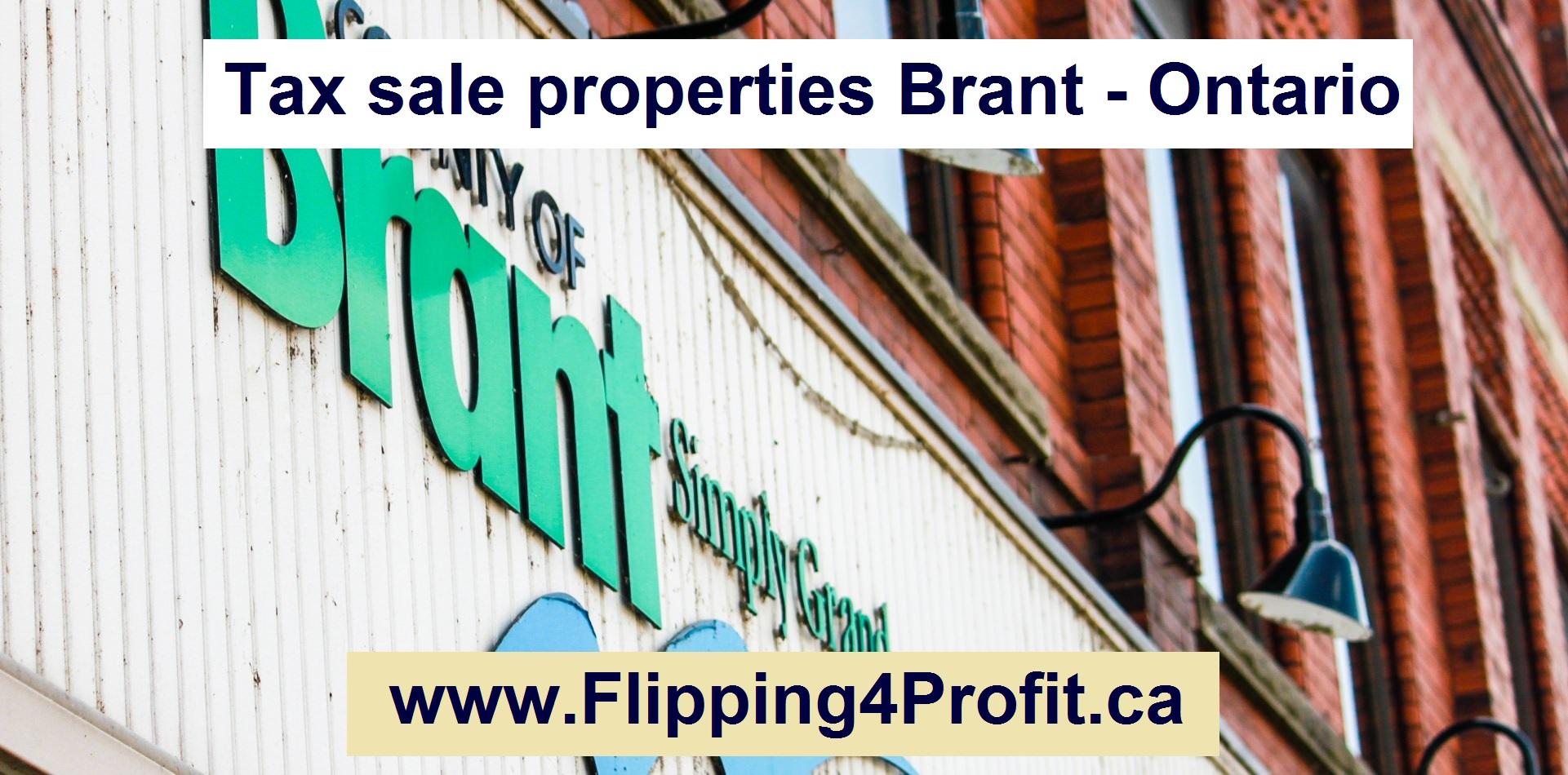 Tax sale properties Brant - Ontario