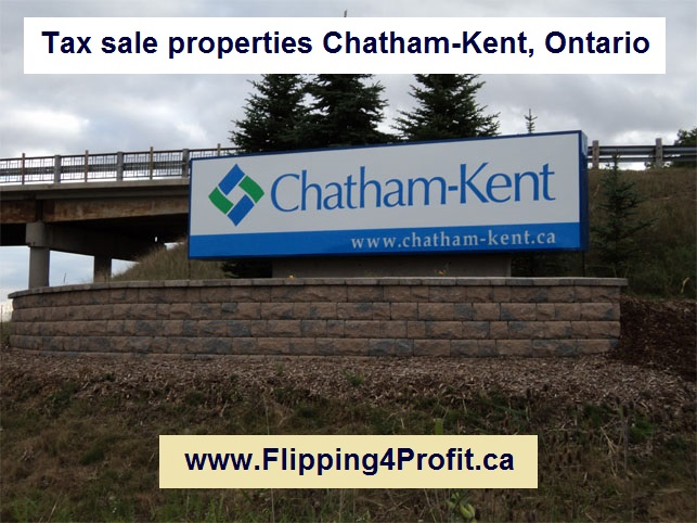 Tax sale properties Chatham-Kent, Ontario