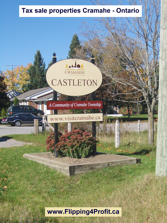 Tax sale properties Cramahe - Ontario