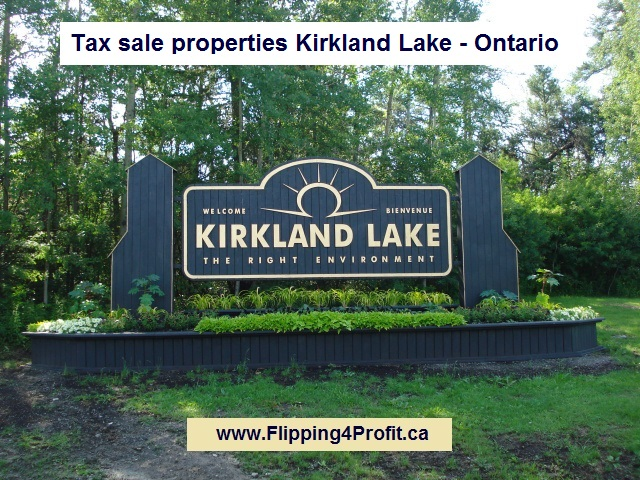 Tax sale properties Kirkland Lake Ontario