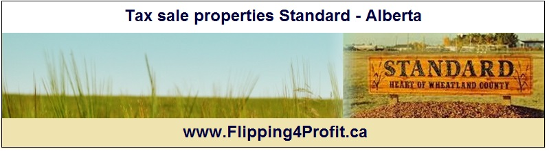 Tax sale properties Standard - Alberta