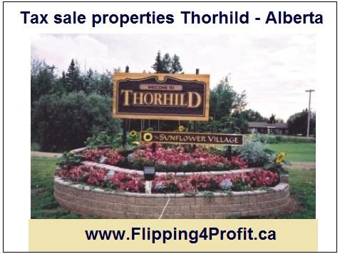 Tax sale properties Thorhild - Alberta