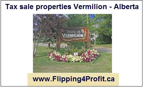 Tax sale properties Vermilion - Alberta