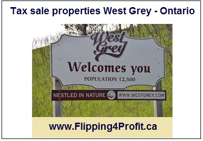 Tax sale properties West Grey - Ontario