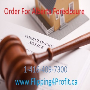 Order for Alberta foreclosure