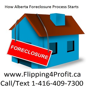 How Alberta Foreclosure Process starts?