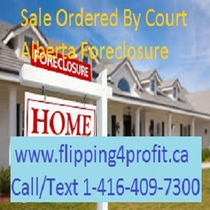 Sale ordered by the court Alberta Foreclosure
