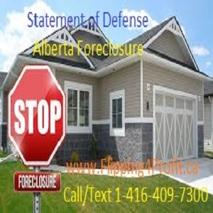 Statement of defense Alberta Foreclosure