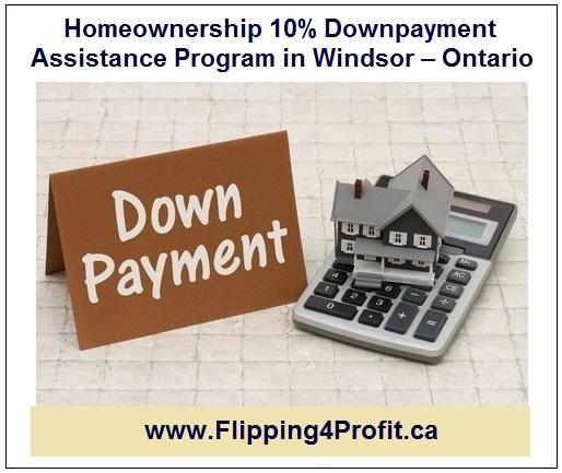 Homeownership 10% Downpayment Assistance Program inWindsor - Ontario