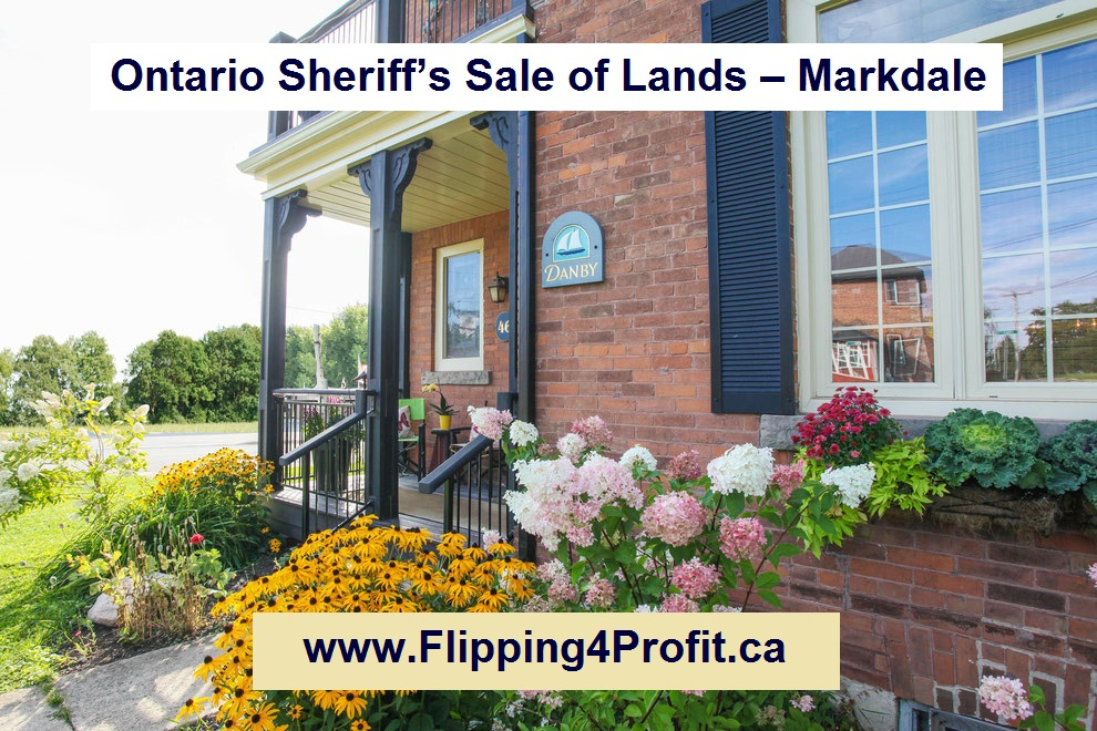 July 27, 2016 Ontario Sheriff's Sale of Lands – Markdale