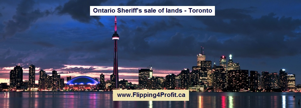 July 12, 2016 Ontario Sheriff's sale of lands - Toronto