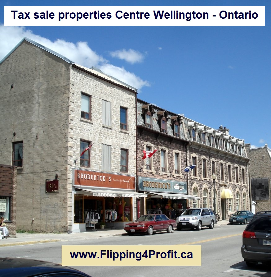 Tax sale properties Centre Wellington - Ontario