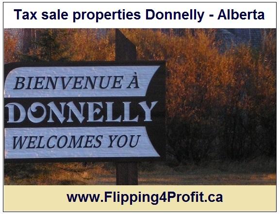 Tax sale properites Donnelly - Alberta