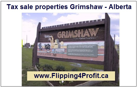 Tax sale properties Grimshaw - Alberta