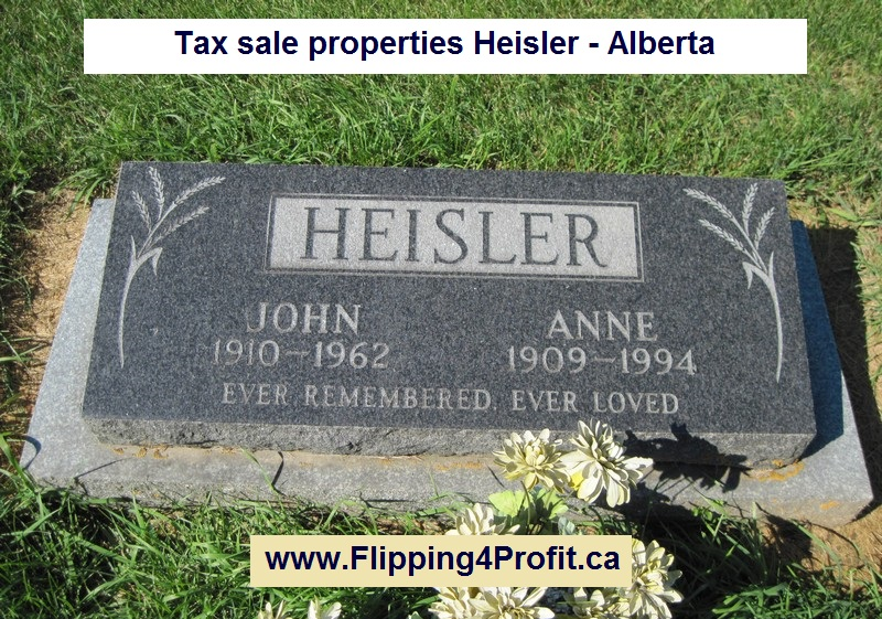 Tax sale properties Heisler - Alberta