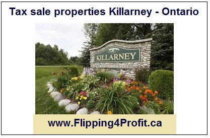Tax sale properties Killarney - Ontario