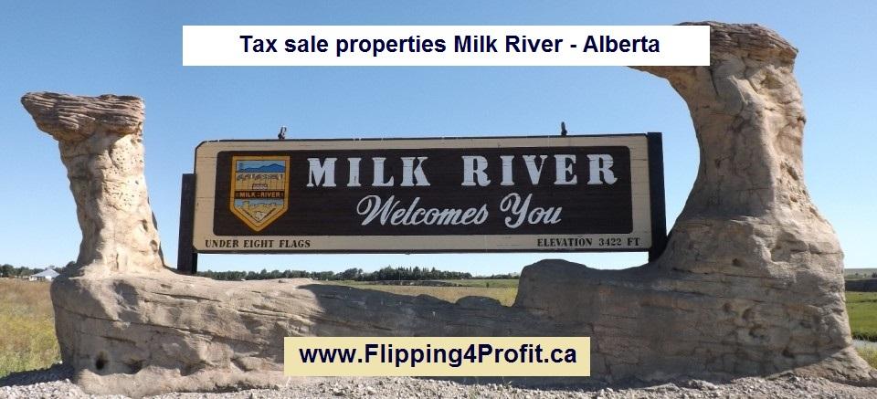 Tax sale properties Milk River - Alberta
