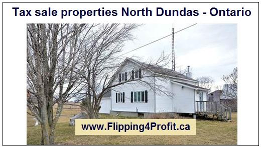 Tax sale properties North Dundas - Ontario