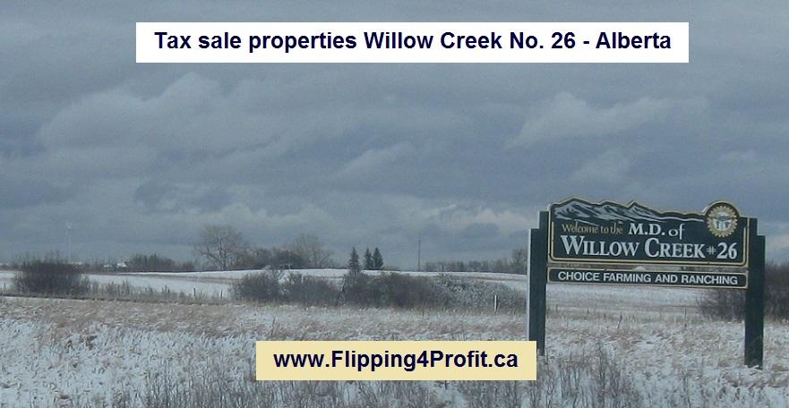Tax sale properties Willow Creek No. 26 - Alberta