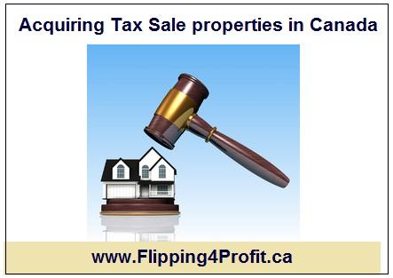 Acquiring Tax Sale properties inCanada