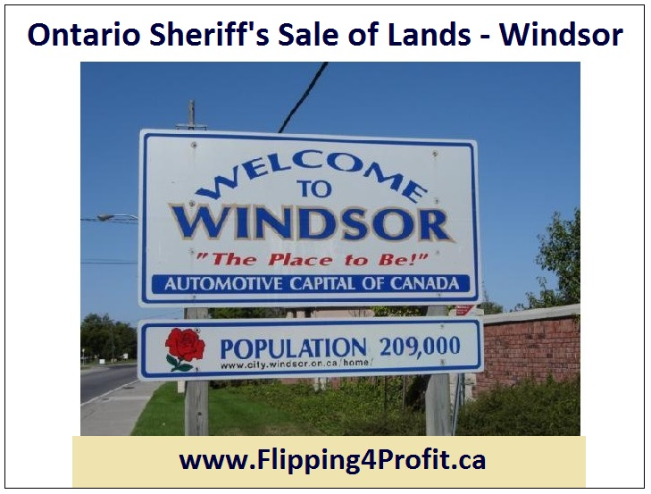 Ontario Sheriff's Sale of Lands - Windsor