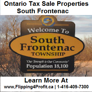 Tax sale properties South Frontenac - Ontario