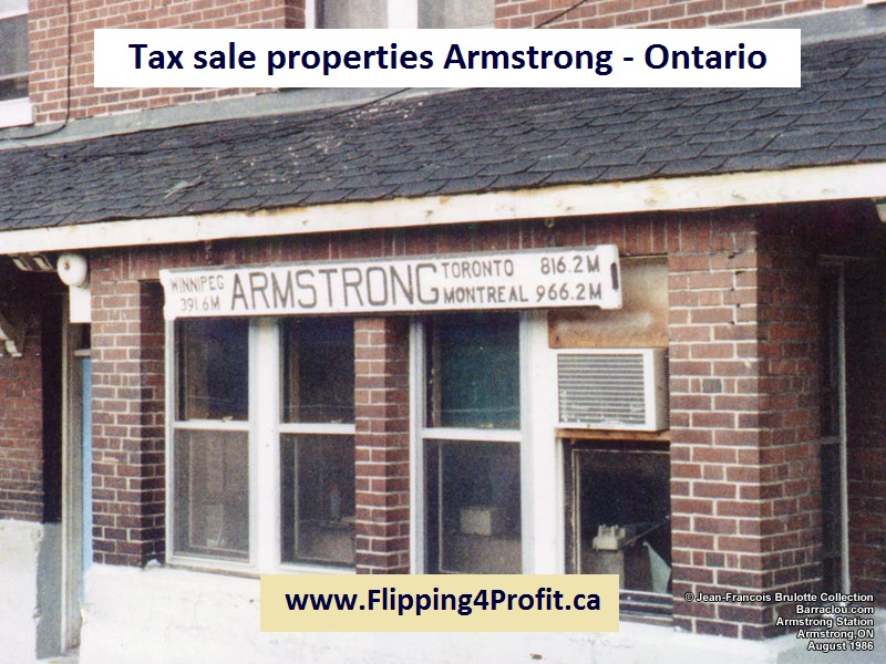 Tax sale properties Armstrong - Ontario