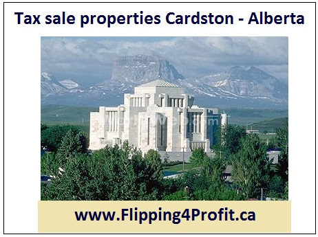 Tax sale properties Cardston - Alberta
