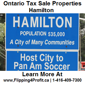 Tax sale properties Hamilton - Ontario