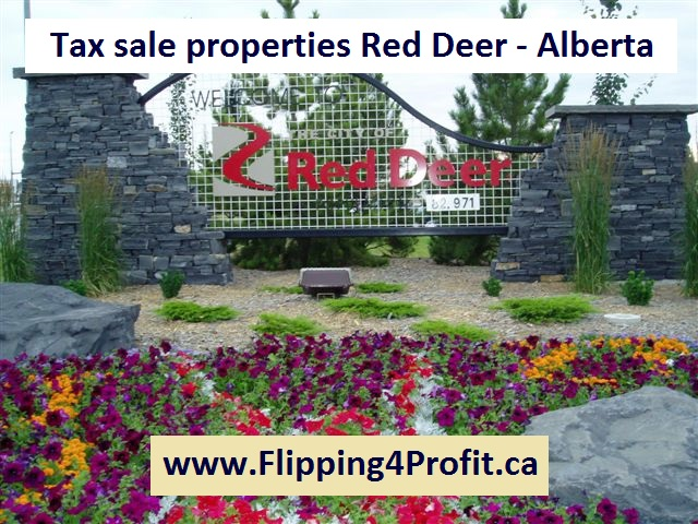 Tax sale properties Red Deer - Alberta