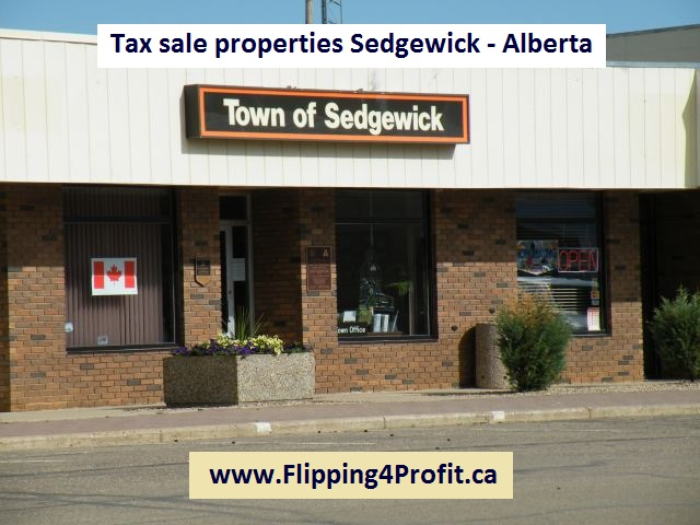 Tax sale properties Sedgewick - Alberta