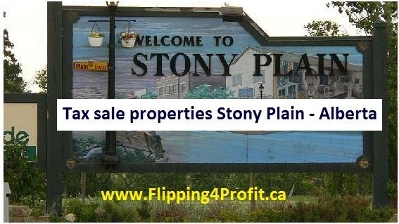 Tax sale properties Stony Plain - Alberta