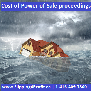 Cost of Power of sale proceedings