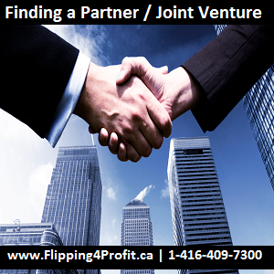 Findinf a Partner  Joint Venture