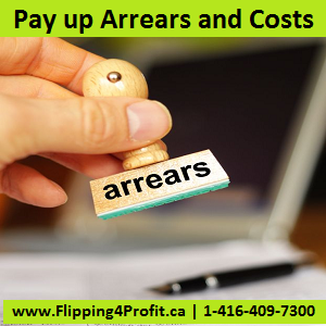 Pay up arrears and costs
